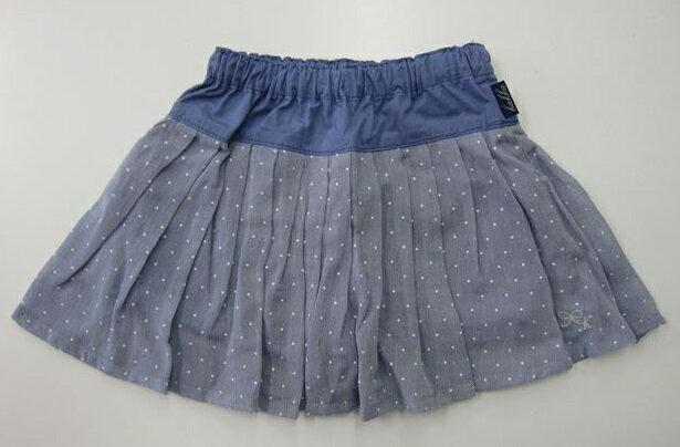 セール30%OFF (メール便可)【hakka kids】[ハッカキッズ] ピンドットボイルショートパンツ付きスカート (100cm 110cm 120cm) (春夏物) (女の子) [スカート] [パンツ付きスカート] (02172081) SALE