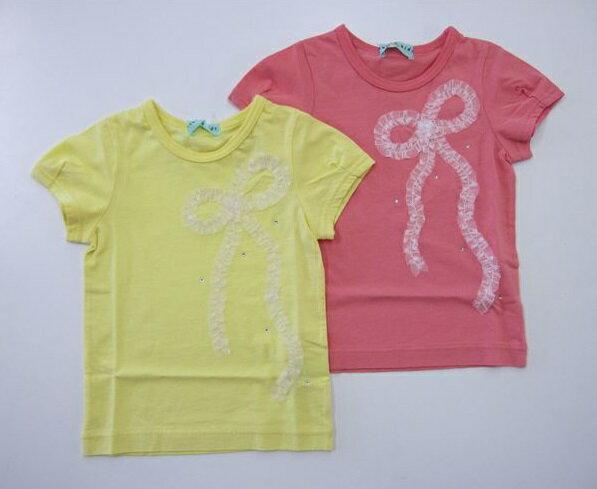 セール50%OFF (メール便可)【hakka baby】[ハッカベビー] BABY リボンモチーフ半袖Tシャツ (80cm 90cm) (春夏物) (女の子) [半袖Tシャツ] (00954085) SALE