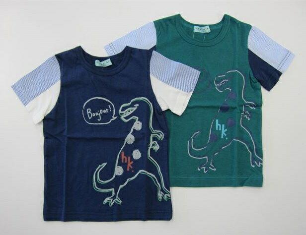 セール50%OFF (メール便可)【hakka kids】[ハッカキッズ] ボーイズ恐竜プリントTシャツ (100cm 110cm 120cm) (春夏物) (男の子) [半袖Tシャツ] (02954885) SALE