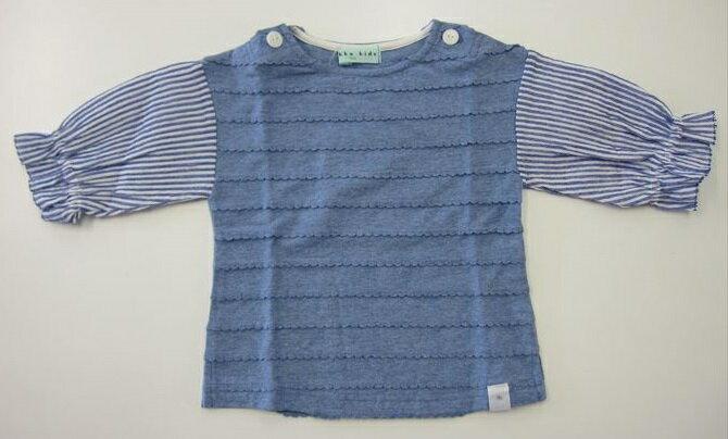 セール50%OFF (メール便可)【hakka kids】[ハッカキッズ] 異素材コンビ5分袖Tシャツ (100cm 110cm 120cm) (春夏物) (女の子) [Tシャツ] (02953281) SALE