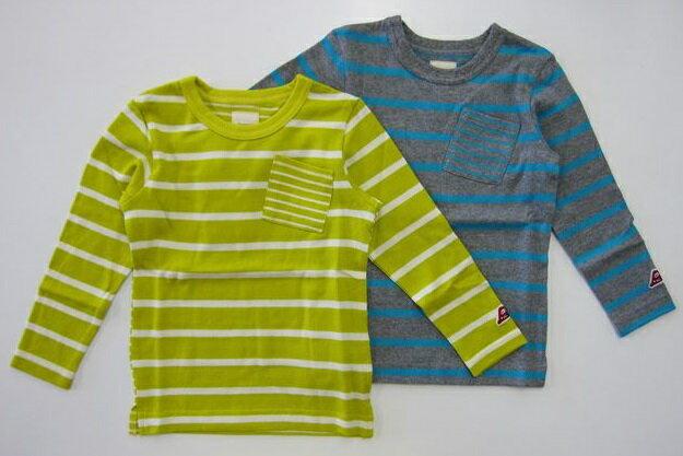セール30%OFF (メール便可)【Orange hakka】[オレンジハッカ] ボーダー長袖Tシャツ (100cm 110cm) (男の子 女の子) [長袖Tシャツ] (17150083)【HAKKA KIDS】[ハッカキッズ] SALE