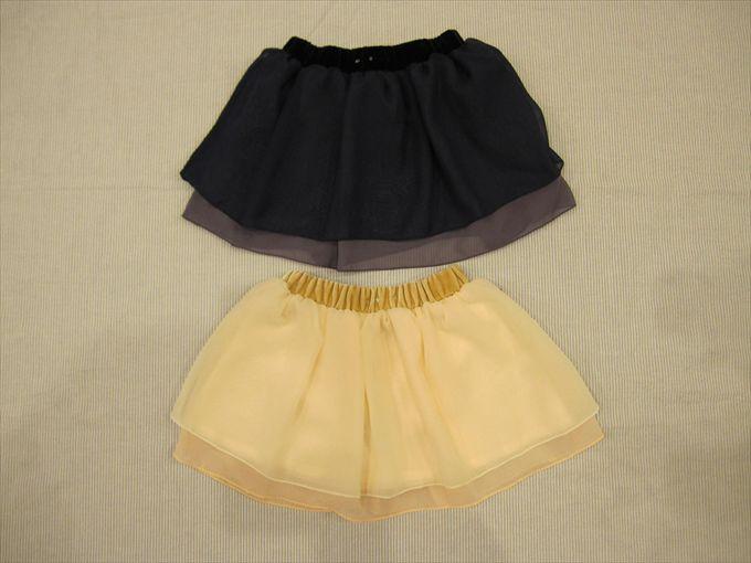 セール40%OFF (メール便可)hakka kids(ハッカキッズ)☆シフォン2枚重ねスカート☆100cm〜130cm SALE