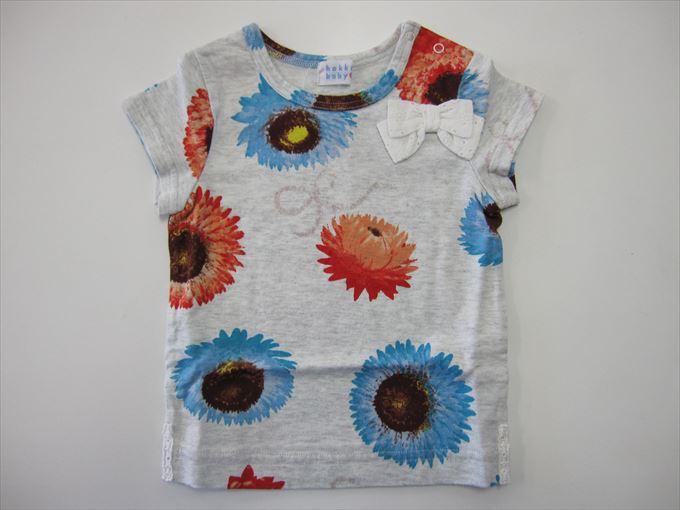 セール40%OFF (メール便可)【HAKKA BABY】[ハッカベビー] BABY貝殻草プリント Tシャツ (春夏物) (80cm,90cm) (女の子) [Tシャツ] (00952675) SALE