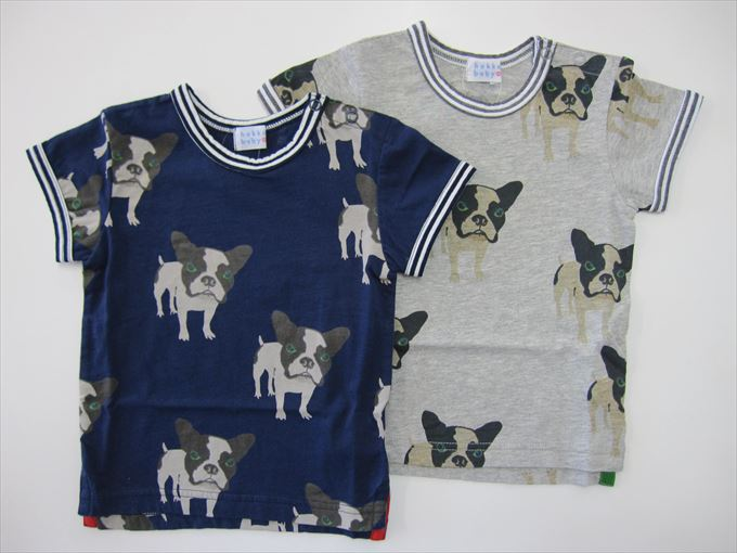 セール50%OFF (メール便可)【HAKKA BABY】[ハッカベビー] BABYフレンチブルプリント Tシャツ (春夏物) (80cm,90cm) (男の子) [Tシャツ] (00955475) SALE