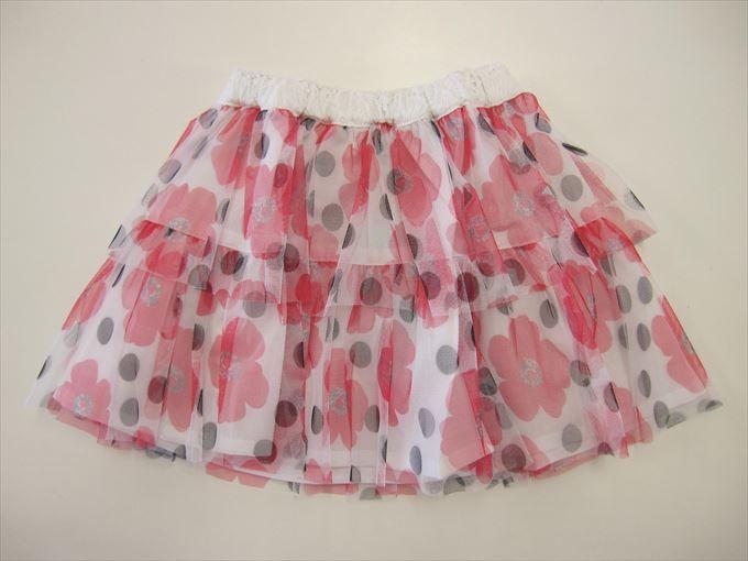 セール50%OFF (メール便可)【HAKKA KIDS】[ハッカキッズ] チュールフラワードットPTスカート (春夏物) (100cm,110cm,120cm) (女の子) [スカート] (02170875) SALE