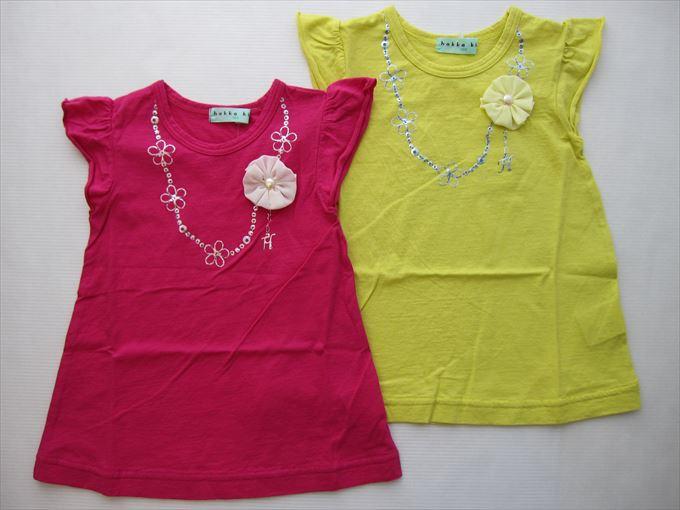 セール50%OFF (メール便可)【HAKKA KIDS】[ハッカキッズ] モチーフネックレスPT付きAラインTシャツ (春夏物) (100cm,110cm,120cm) (女の子) [Tシャツ] (02954871) SALE