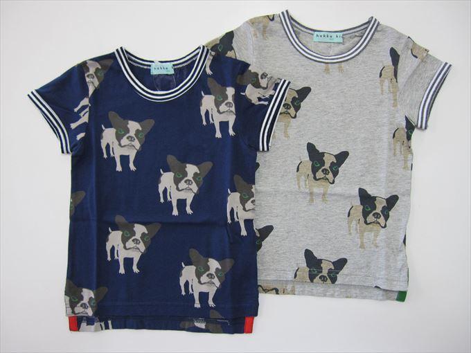 セール50%OFF (メール便可)【HAKKA KIDS】[ハッカキッズ] フレンチブルプリント Tシャツ (春夏物) (100cm,110cm,120cm) (男の子) [Tシャツ] (02955475) SALE