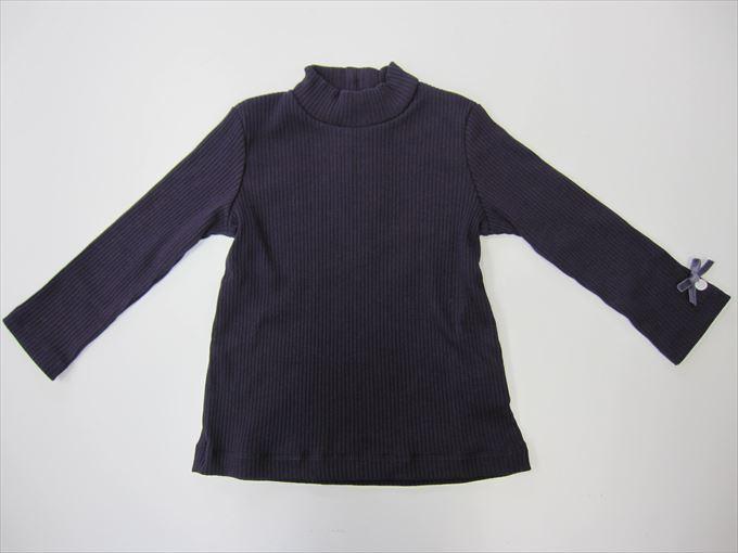 セール50%OFF (メール便可)【Tartine et Chocolat】日本製 T/Cトタンテレコ ハイネック Tシャツ (90-100cm)[ハイネック Tシャツ](1735-770001)[タルティーヌ エ ショコラの子供服] SALE