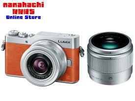 【GF9専用純正予備バッテリーおまけ付き】ミラーレス一眼 Panasonic デジタルカメラ LUMIX DC-GF9W-D ダブルレンズキット [オレンジ] ミラーレス一眼カメラの初級機【送料無料・一部地域を除く】