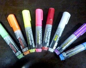 お祭り 作戦板 LED PRボード用マーカー 8色セット マジックペンtecc-pen8s