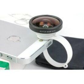 【送料無料】iphone4/4S/5等のスマホ汎用 クリップ型 広角レンズ VM-IP-LENS-CK