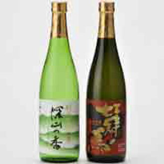 Two types of sake rice and drinking! Kaori junmai ginjo sake set 7 Crown horse most popular and Miyama
