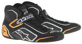alpinestars(アルパインスターズ) TECH1 T SHOES BLACK WHITE ORANGE FLUO サイズ:9 品番:2710015-1241-9