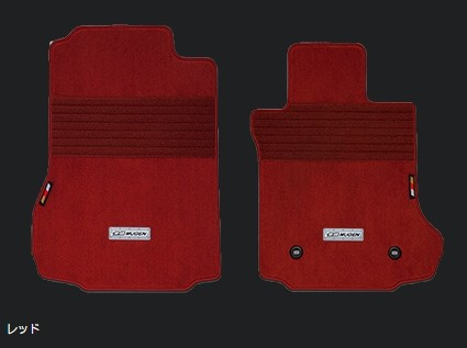 MUGEN 無限 スポーツマット フロント 2枚セット レッド ホンダ S660 JW5 08P15-XNA-K0S0-RD
