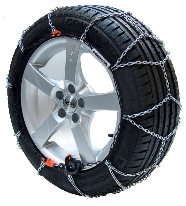 weissenfels(バイセンフェルス) 高性能金属製スノーチェーン クラック&ゴー UNIQA(ユニカ)M32 品番:L130 【適合タイヤサイズ:215/60R17 (サマータイヤ/スタッドレスタイヤ) ※ブリザックREVO GZ、VRX、VRX2 適合可】
