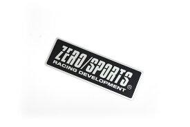 ZEROSPORTS(ゼロスポーツ) アルミプレートエンブレム シルバー&ブラック 品番:1454018