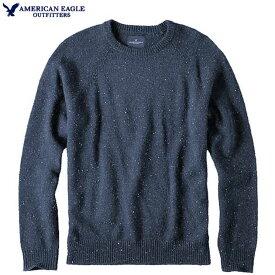 アメリカンイーグル セーター メンズ セーター ドネガルウール 上質 ウール シルク混 ニット クルーネック トップス プルオーバー アメカジ 小さいサイズ【XSサイズ】【Sサイズ】ヘザーネイビー 送料無料 あす楽 American Eagle アメリカンイーグル 正規品