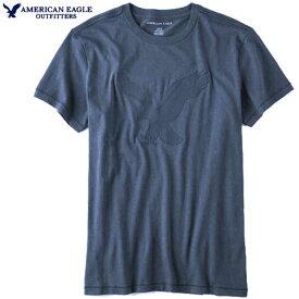 アメリカンイーグル Tシャツ メンズ Tシャツ 半袖Tシャツ 上質 ソフトジャージー ビッグイーグルアップリケ インナー トップス アメカジ 【Sサイズ】【Mサイズ】ネイビーブルー メール便送料無料 American Eagle アメリカンイーグル 正規品