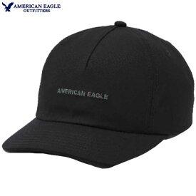 アメリカンイーグル キャップ メンズ キャップ 帽子 上質 コットン ベースボール cap ロゴ刺繍 メッシュ裏地 防水生地アジャスターバックストラップ アメカジ 大きいサイズ 【ONE SIZE】ブラック 送料無料 あす楽 American Eagle アメリカンイーグル 正規品