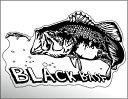 【ブラックバス】防水 ステッカー迫力の 魚 ステッカー (出力タイプ)W167× H105 1枚W70 × H45 6枚セット