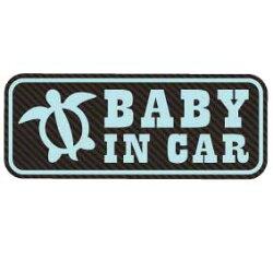 【マグネットステッカー:メール便:送料無料】ベビーインカーマグネット赤ちゃんが乗っています:赤ちゃんステッカー/ベビー用品/baby