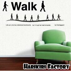 ウォール ステッカー/WALL STICKER/インテリアシール/壁 シール/壁ステッカー/名言/哲学/言葉/文字【WALK】 〜キルコゲ−ルの名言を〜