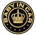 baby in car マグネット ステッカー 王冠 赤ちゃんが乗っています シール カッティングステッカータイプ 赤ちゃんが乗ってます 車 kids…
