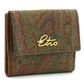 エトロ ETRO 二つ折り財布ダブルホック 1H526 8255 ワインマルチ