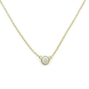 ティファニー TIFFANY ネックレス ペンダント ダイヤモンド バイザヤード 35008322 K18イエローゴールド ダイヤ0.17ct