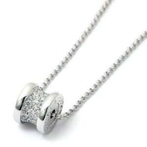 ブルガリ BVLGARI ビーゼロワン B-Zero1 ダイヤモンド ネックレス ペンダント ミニ CL857519 K18ホワイトゴールド パヴェダイヤ
