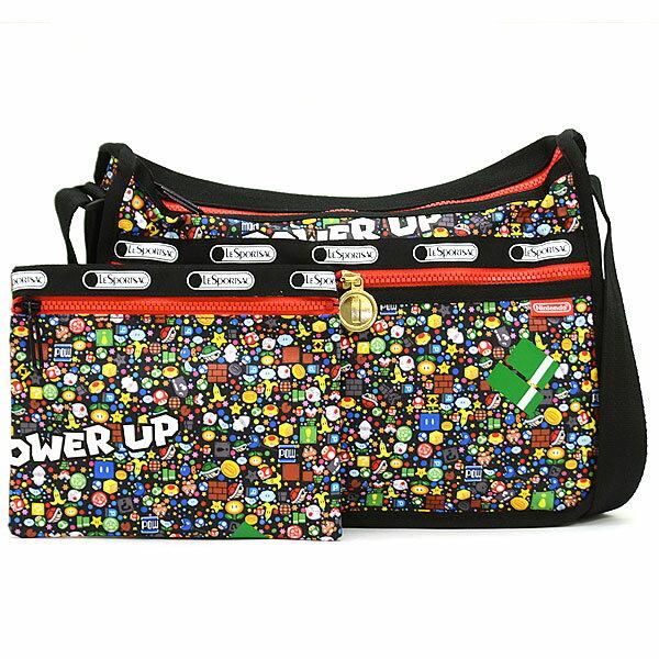 【衝撃特価セール】 レスポートサック LeSportsac DELUXE EVERYDAY BAG ショルダーバッグ(ポーチ付き)7507 G355 POWER UP BURST 【あす楽対応】