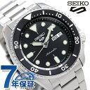セイコー 5スポーツ 日本製 自動巻き 流通限定モデル メンズ 腕時計 SBSA005 Seiko 5 Sports スポーツ ブラック 時計