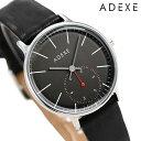 【今なら10%割引クーポン&店内ポイント最大44倍】 アデクス 時計 メンズ レディース 腕時計 スモールセコンド 1870A-01 ADEXE プチ 33mm ガンメタル×ブラック【あす楽対応】