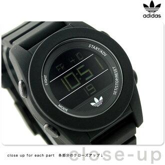 Adidas original scull gully 40mm alarm men ADH2985 adidas watch quartz oar black