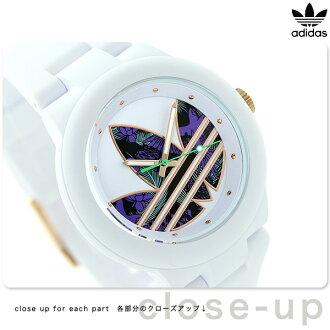 愛迪達原始物阿伯丁男女兩用ADH3018 adidas手錶白×花紋