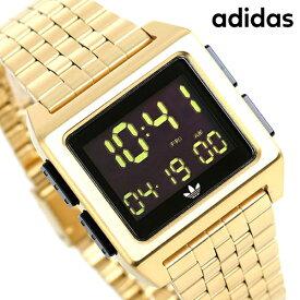 【今ならポイント最大41倍】 アディダス オリジナルス デジタル メンズ レディース 腕時計 Z01513-00 adidas アーカイブ_M1 ブラック×ゴールド【あす楽対応】