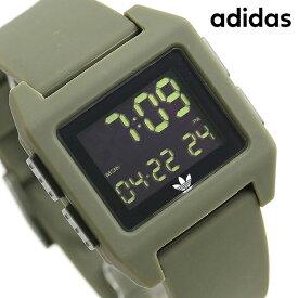 15日ならさらに+9倍に10%割引クーポン! アディダス オリジナルス デジタル メンズ レディース 腕時計 Z153118-00 adidas アーカイブ_SP1 ブラック×カーキ【あす楽対応】
