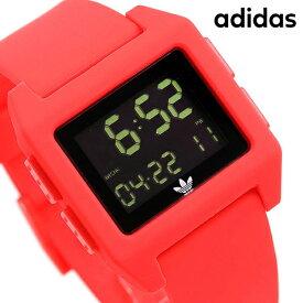 15日ならさらに+9倍に10%割引クーポン! アディダス オリジナルス デジタル メンズ レディース 腕時計 Z153120-00 adidas アーカイブ_SP1 ブラック×レッド【あす楽対応】