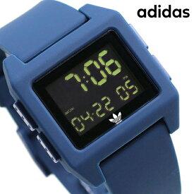 15日ならさらに+9倍に10%割引クーポン! アディダス オリジナルス デジタル メンズ レディース 腕時計 Z153122-00 adidas アーカイブ_SP1 ブラック×ネイビー【あす楽対応】