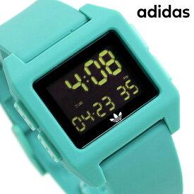 15日ならさらに+9倍に10%割引クーポン! アディダス オリジナルス デジタル メンズ レディース 腕時計 Z153185-00 adidas アーカイブ_SP1 ブラック×グリーン【あす楽対応】