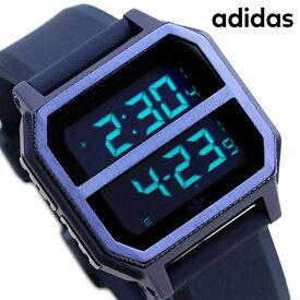 15日ならさらに+9倍に10%割引クーポン! アディダス オリジナルス デジタル メンズ レディース 腕時計 Z16605-00 adidas アーカイブ_R2 ブラック×ネイビー【あす楽対応】