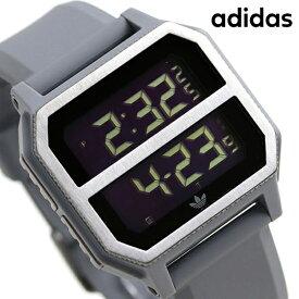 15日ならさらに+9倍に10%割引クーポン! アディダス オリジナルス デジタル メンズ レディース 腕時計 Z16632-00 adidas アーカイブ_R2 ブラック×ガンメタル【あす楽対応】