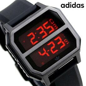 15日ならさらに+9倍に10%割引クーポン! アディダス オリジナルス デジタル メンズ レディース 腕時計 Z16760-00 adidas アーカイブ_R2 オールブラック【あす楽対応】