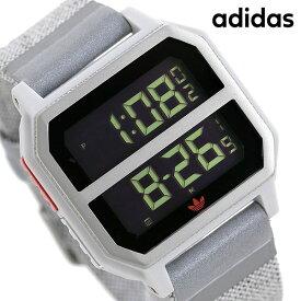 15日なら全品5倍以上で店内ポイント最大42倍! アディダス adidas 時計 デジタル メンズ レディース 腕時計 アディダスオリジナルス Z163199-00 ブラック×グレー【あす楽対応】