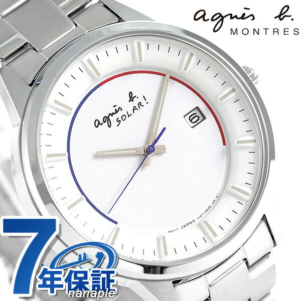 アニエスベー 時計 ソーラー メンズ FBRD953 agnes b. ホワイト アニエス・ベー 腕時計【あす楽対応】
