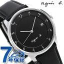 アニエスベー 時計 メンズ マルチェロ ブラック FBRK995 agnes b. 腕時計 革ベルト【あす楽対応】