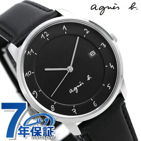 【30日はさらに+4倍でポイント最大27倍】【マスク付き♪】 アニエスベー 時計 メンズ マルチェロ ブラック FBRK995 agnes b. 腕時計 革ベルト【あす楽対応】