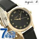 アニエスベー 時計 レディース ソーラー FBSD941 agnes b. マルチェロ ブラック 革ベルト 腕時計