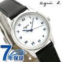 アニエスベー 時計 レディース ソーラー FBSD942 agnes b. マルチェロ ホワイト×ブラック 腕時計【あす楽対応】