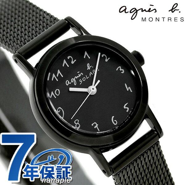 【当店なら!さらにポイント+4倍!21日1時59分まで】 アニエスベー マルチェロ ソーラー レディース 腕時計 FBSD943 agnes b. オールブラック 時計【あす楽対応】
